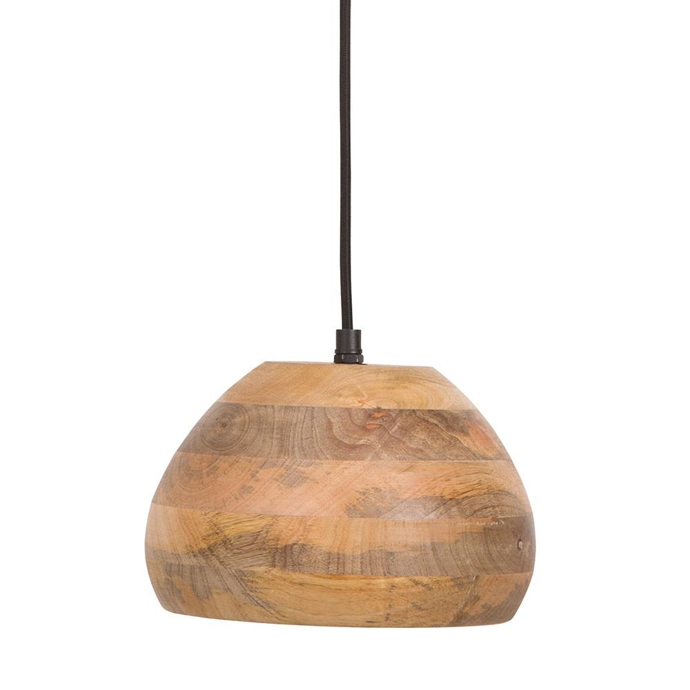 Rope Lights Woodies: Woody Pendant Lamp In Mango Wood - Lighting