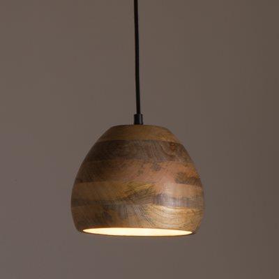 WOODY PENDANT LAMP in Mango Wood
