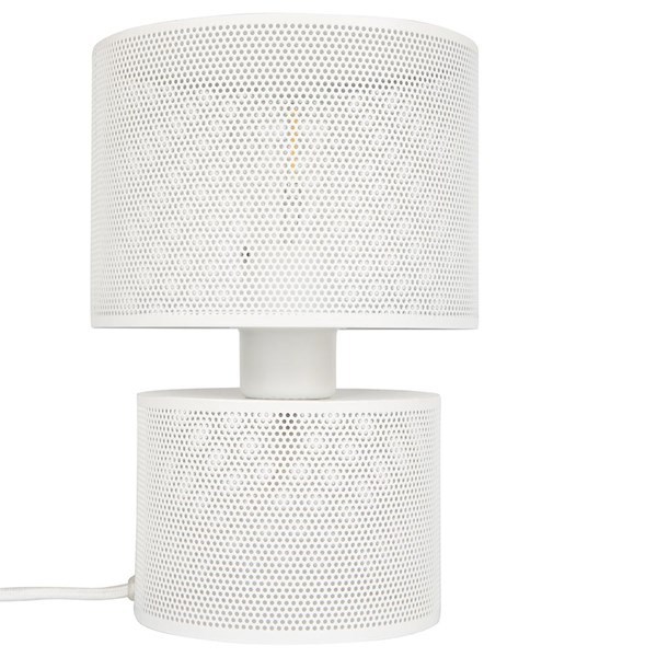 Metal Mesh Table Lamp in White