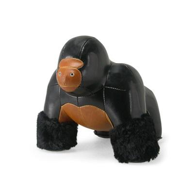MILO GORILLA Animal Doorstop in Black & Tan