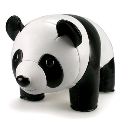 PANDA Animal Bookend in White & Black