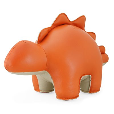 STEGOSAURUS Animal Bookend in Orange & Wheat