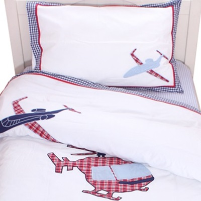 COT BED DUVET SET in Aeroplane Design