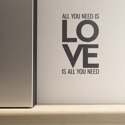WALL STICKER in 'All You Need Is Love' design