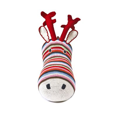 CROCHET Reindeer Head Wall Hanging in Multi Colour
