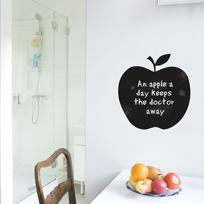 CHALKBOARD WALL STICKER in 'Apple' design