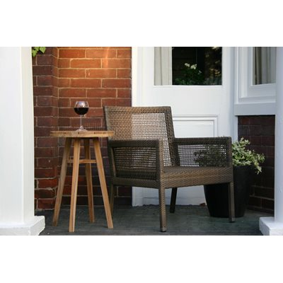 AROMA RATTAN CHAIR & TEAK SIDE TABLE