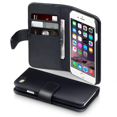 ASTON iPhone 6 Leather Wallet Phone Case in Black