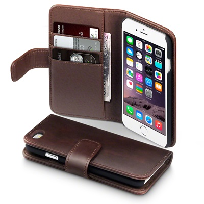 ASTON iPhone 6 Leather Wallet Phone Case in Brown