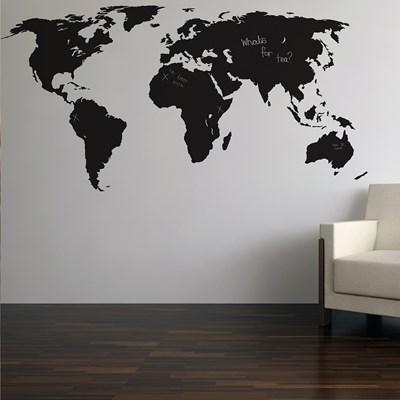 Great Atlas World Wall Chalkboard Sticker Home Decor Large. ... Gallery