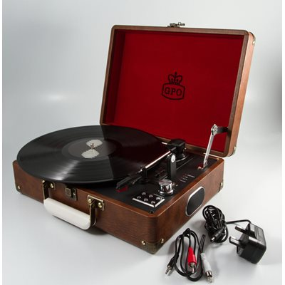 ATTACHE RECORD PLAYER TURNTABLE SUITCASE in Brown