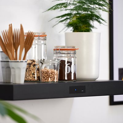 bSHELF BLUETOOTH SHELF SPEAKER in Black