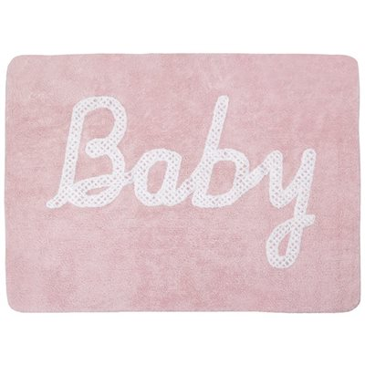 BABY Washable Rug in Pink