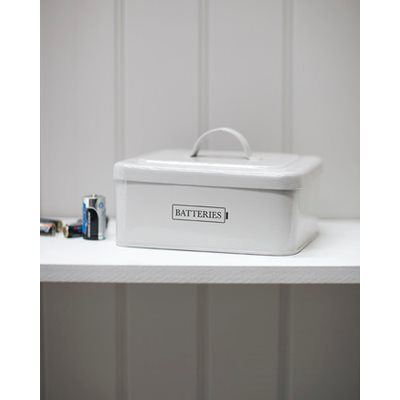 BATTERY BOX in Chalk by Garden Trading
