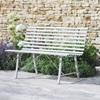 Battersea Metal Garden Bench in Clay