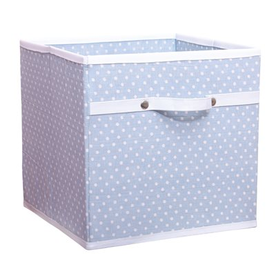 STORAGE BOX in Dotty Blue