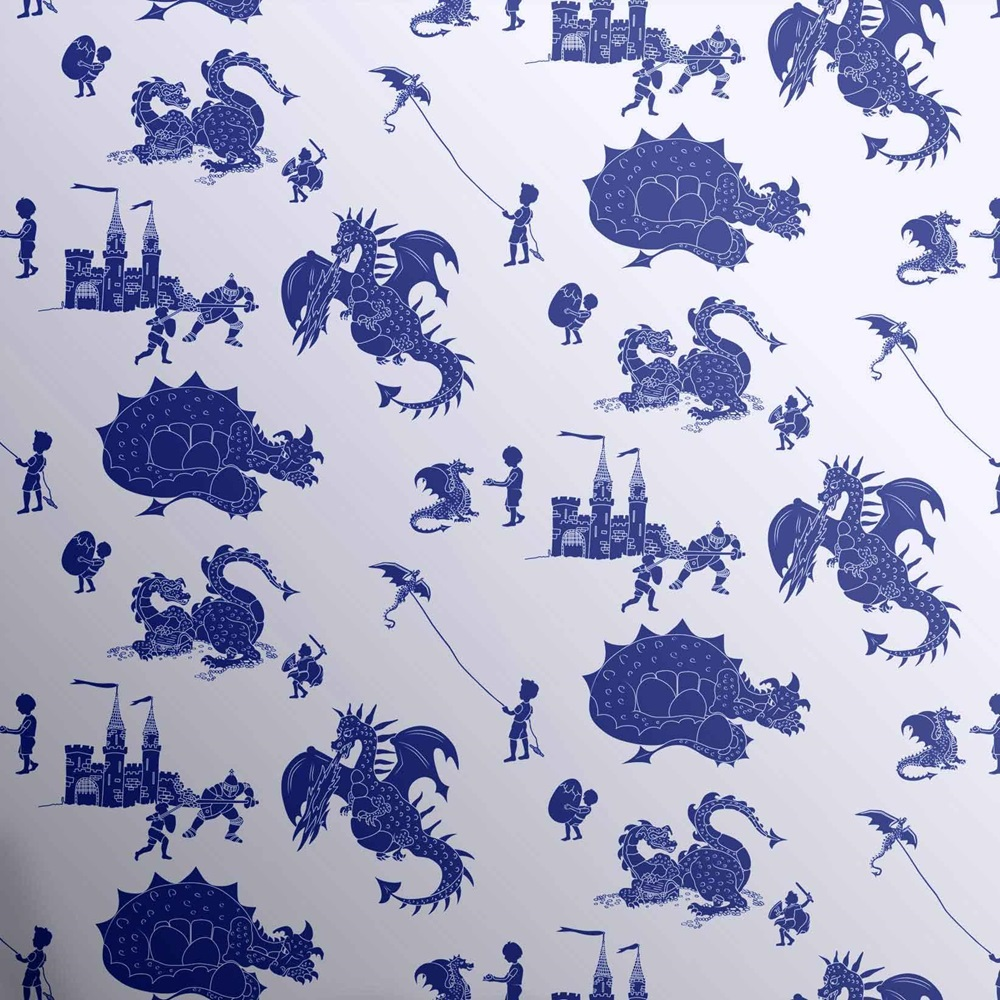 Bedroom Wallpaper Ideas Creative Bedroom Blue Wall Designs Dallas Cowboys Bedroom Paint Ideas Bedroom Interior Design Ideas India: DESIGNER KIDS WALLPAPER- 'ere-be-dragons' In Blue