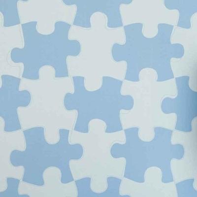 DESIGNER KIDS WALLPAPER  Its a Puzzle in Blue   bedroom decor   Cuc