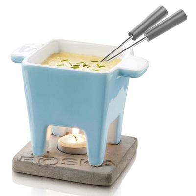 TAPAS Cheese Fondue Set Blue