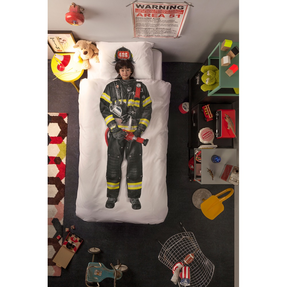 Snurk Firefighter Duvet Bedding Set Unique Bed Linen Cuckooland