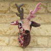 Fabric Trophy Head in Buck the Stag Design