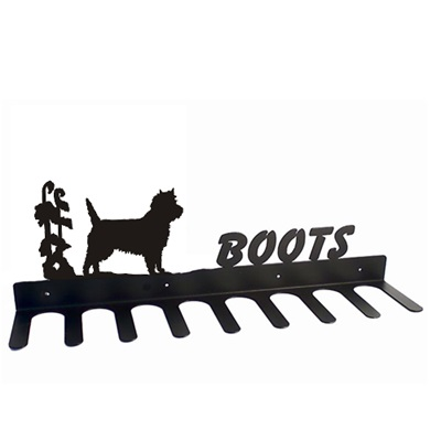 BOOT RACK in Cairn Terrier Design