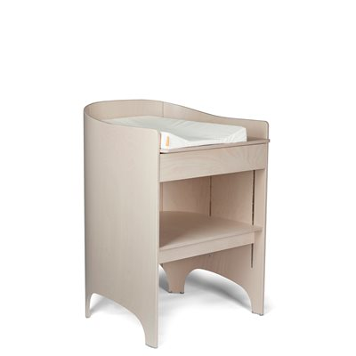 LEANDER Changing Table in Whitewash