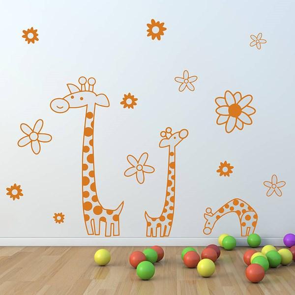 CHILDREN'S GIRAFFE WALL STICKER