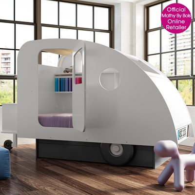 KIDS BEDROOM CARAVAN BED in White