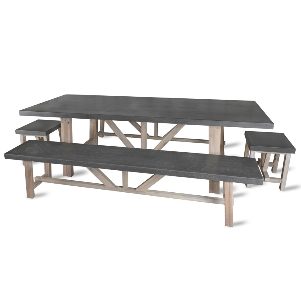 Garden Trading Chilson Table Bench And Stool Dining Set