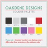 Colour chart for wall stickers
