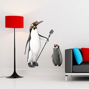 COOL PENGUINS WALL STICKERS