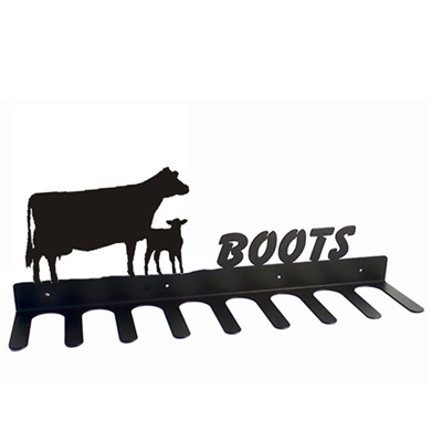 BOOT RACK in Cow and Calf Design