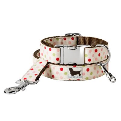 MEDIUM DOG COLLAR WITH LEAD in Bette