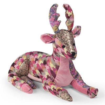 DOORSTOP in Patchwork Deer Design