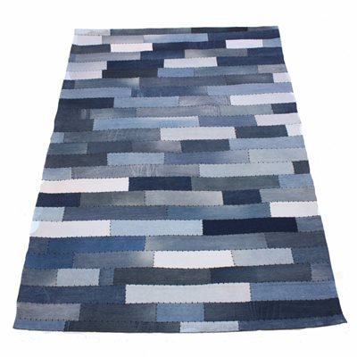 RUG in Varsity Denim Stripe Design