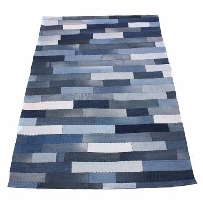 RUG in Varsity Denim Stripe Design