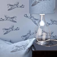Product photograph showing Designer Kids Wallpaper- Spitfire In Blue