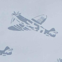 designer-wallpaper-spitfires-blue-single-plane.jpg