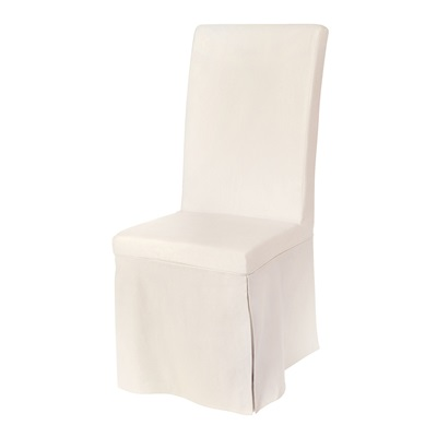PAIR OF LOOSE COVER DINING CHAIRS in Beige Linen