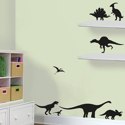 DINOSAUR WALL STICKER SET in Black