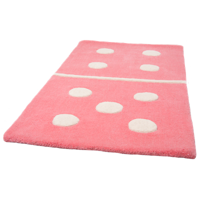 KIDS DECORATIVE RUG in Rose Domino Design