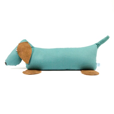 DOORSTOP in Green Dachshund design