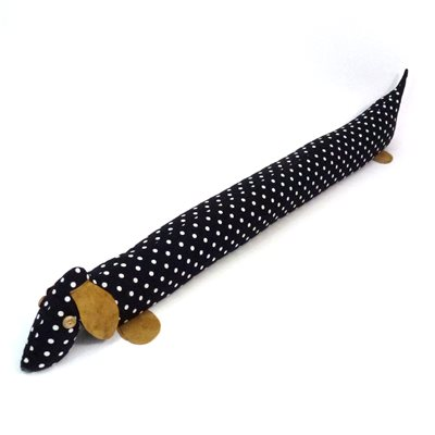 SCENTED DACHSHUND DRAUGHT EXCLUDER in Polka Dot