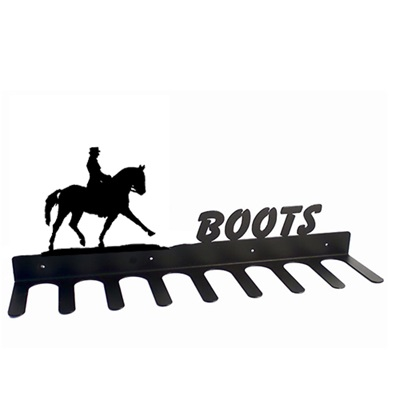 Boot Rack in Dressage Horse Design
