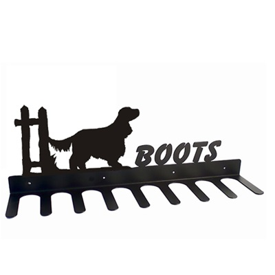 BOOT RACK in English Cocker Spaniel Design