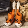 Fox Slippers in Felt