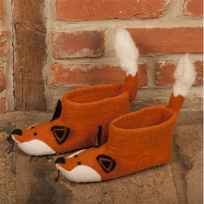 ADULT'S Animal Slippers in Finlay Fox Design