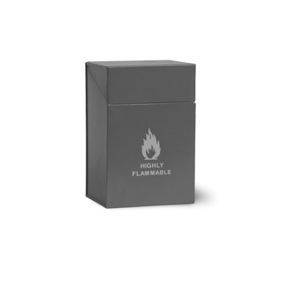 FIRELIGHTER METAL BOX in Charcoal