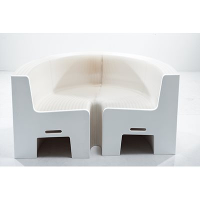 FLEXIBLE LOVE ECO-FRIENDLY EXTENDABLE SEATING in White